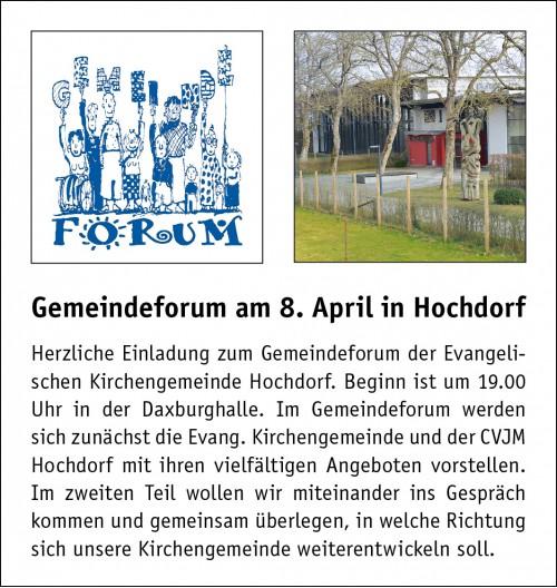 Anzeige GemForum Hochdorf