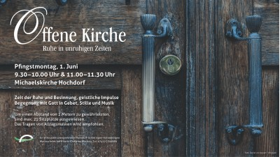 Offene Kirche Anzeige Pfingst Montag