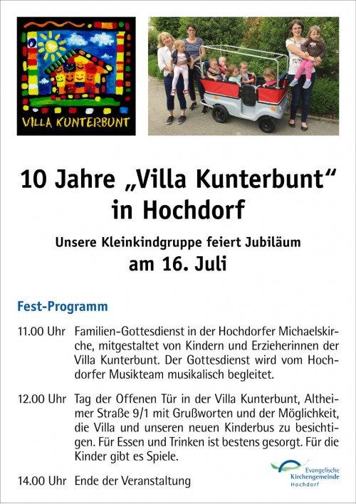 Plakat Jubilaum Villa A4