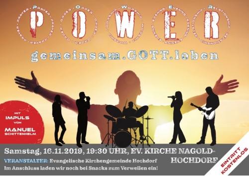Plakat Lobpreis Musikteam A3 Druck